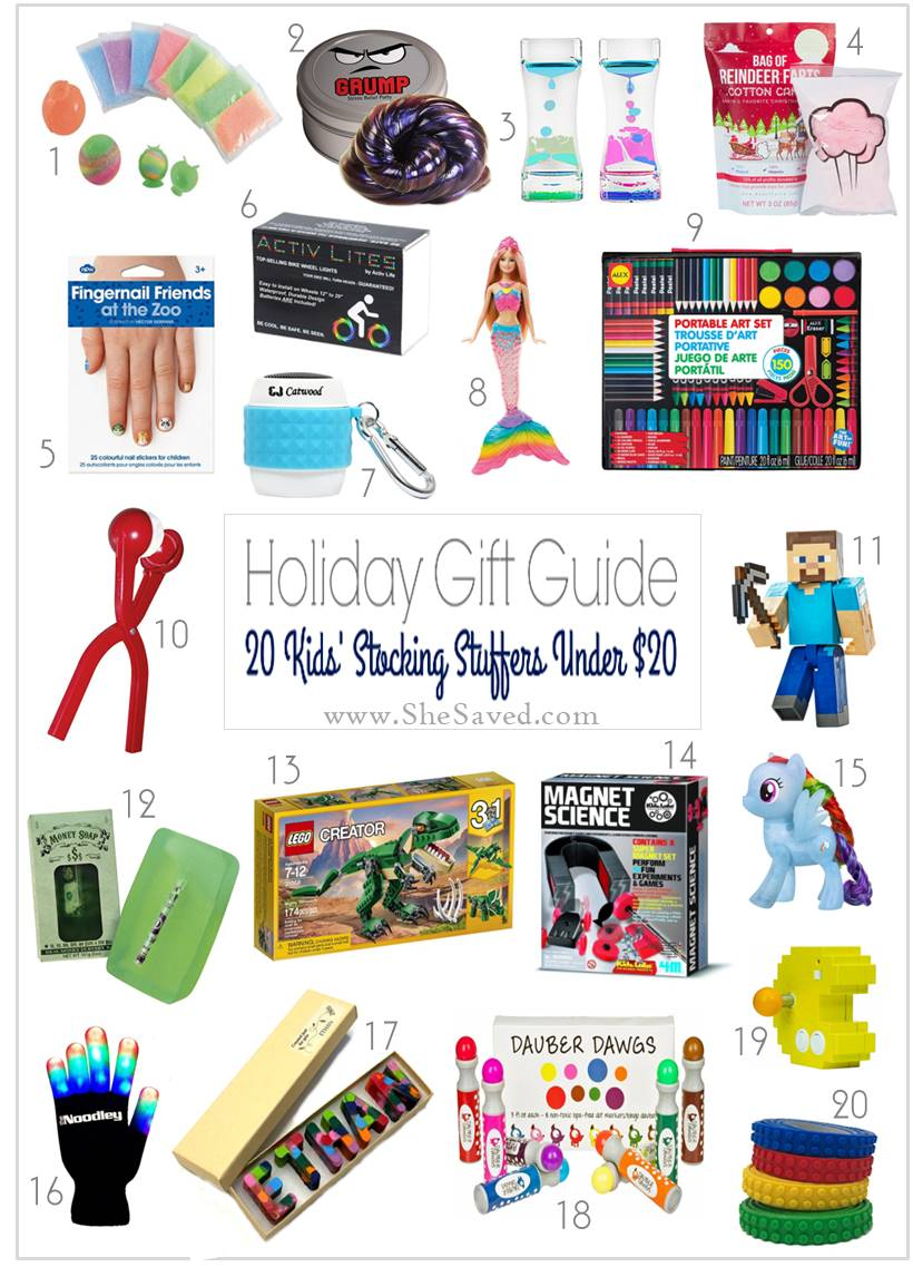 Don't forget the Stocking Stuffers! Here is a list of favorites under $20!