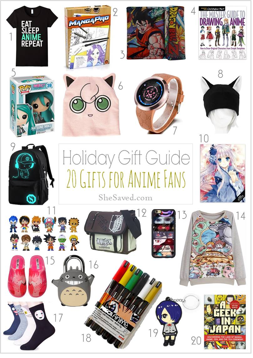 Anime Gift Ideas for the anime fan on our list!
