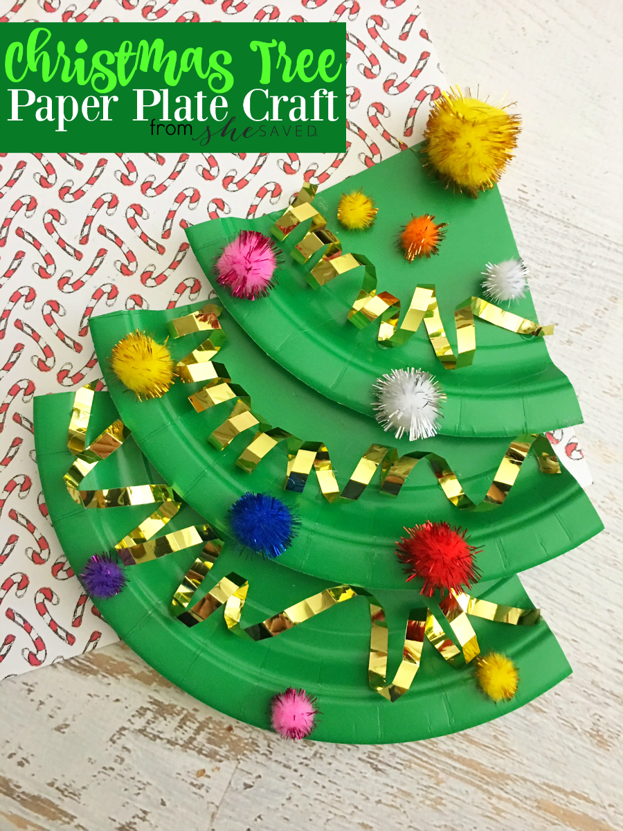 Easy Paper Plate Christmas Tree Craft - SheSaved®