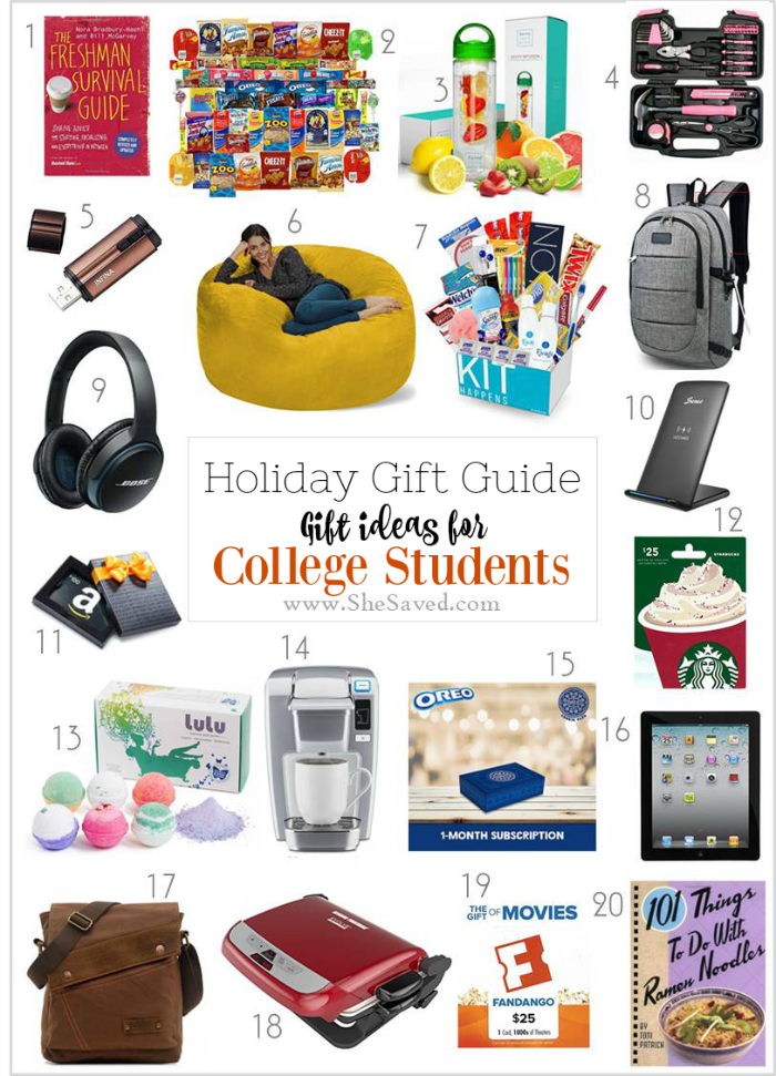 Looking for gifts for college students? Check out this list of great ideas!