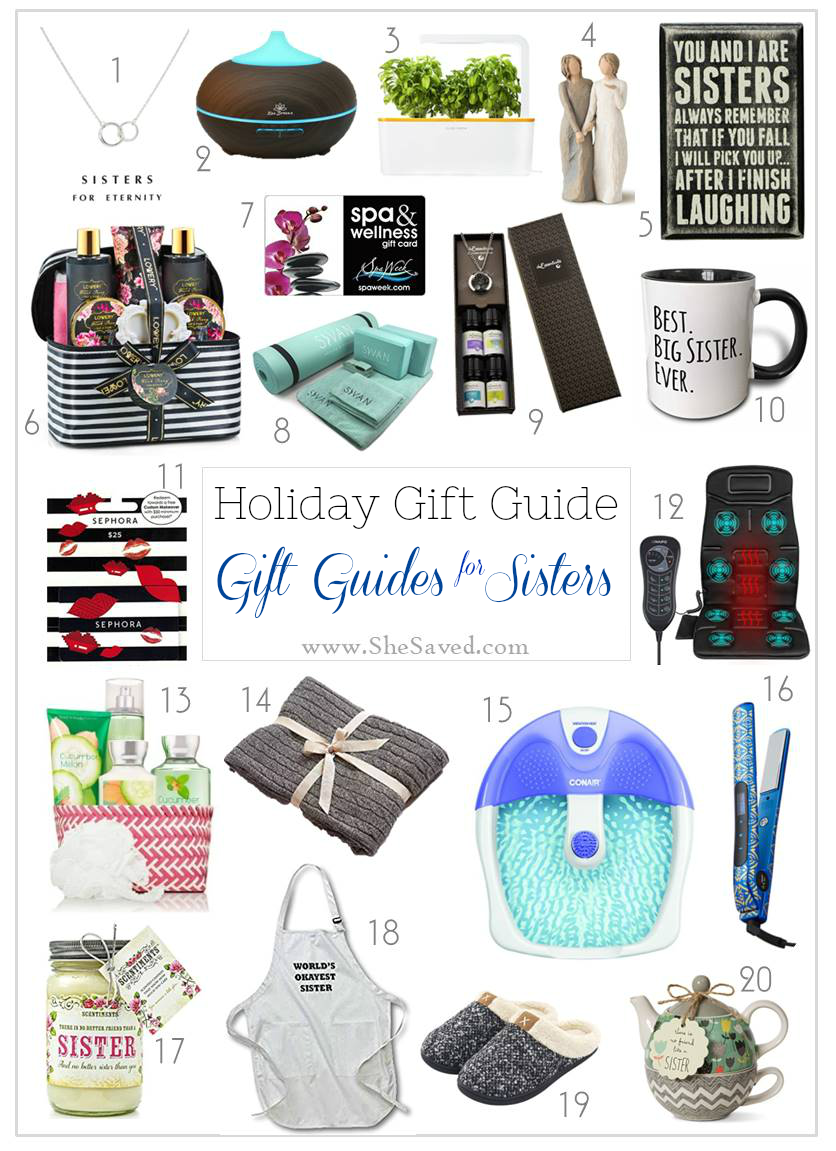 Looking for gift ideas for sisters? I've got you covered in this fun round up of great gift ideas!