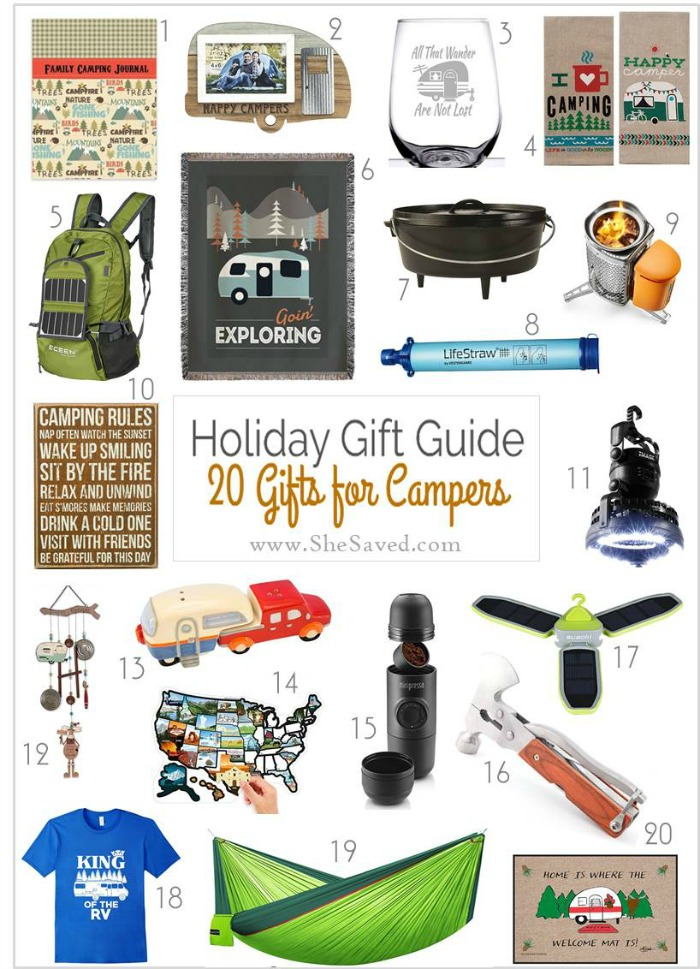 If you are looking for gifts for campers, I've got you covered in my gift round up!