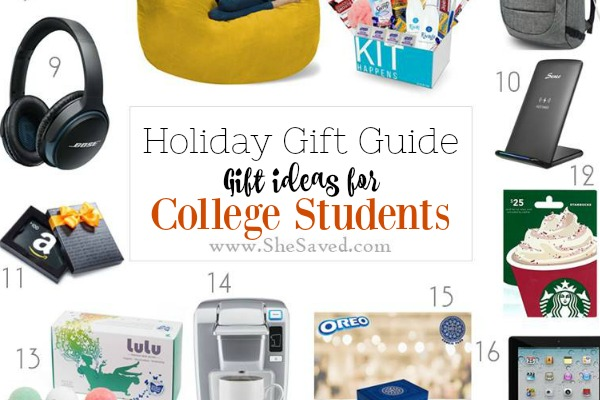 HOLIDAY GIFT GUIDE: Gifts for College Students