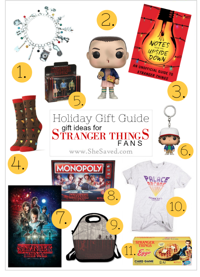 Got a fan on your list? Here is a list of gifts for Stranger Things Fans!