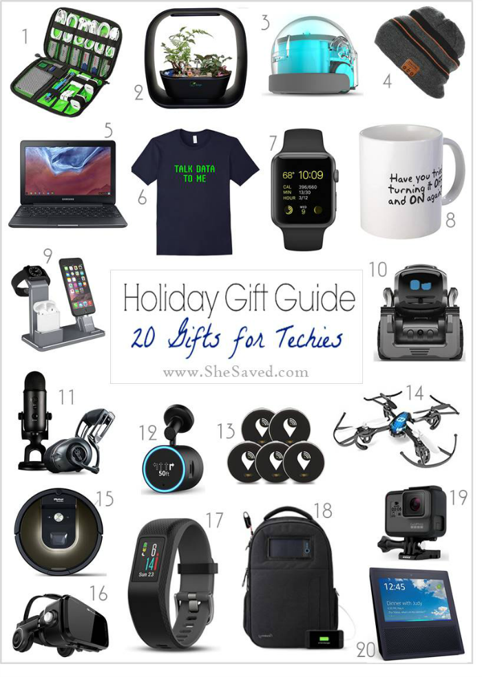 Looking for great gifts for Techies? I've got them all here in my gift round up!
