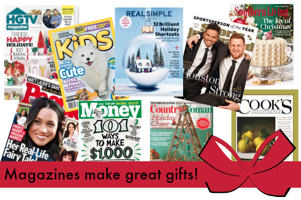 HUGE Magazine Sale + FREE Gift Announcement Postcard!