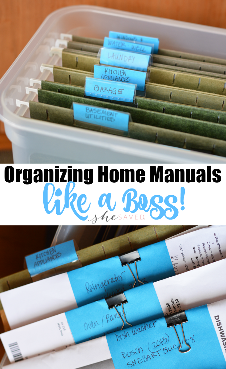 Keep your important papers in order with these Organizing Home Manuals tips and tricks!