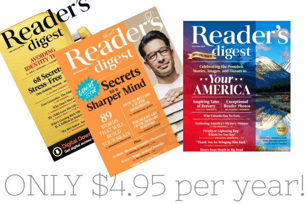 *RARE* Reader's Digest Magazine for $4.95 Shipped!