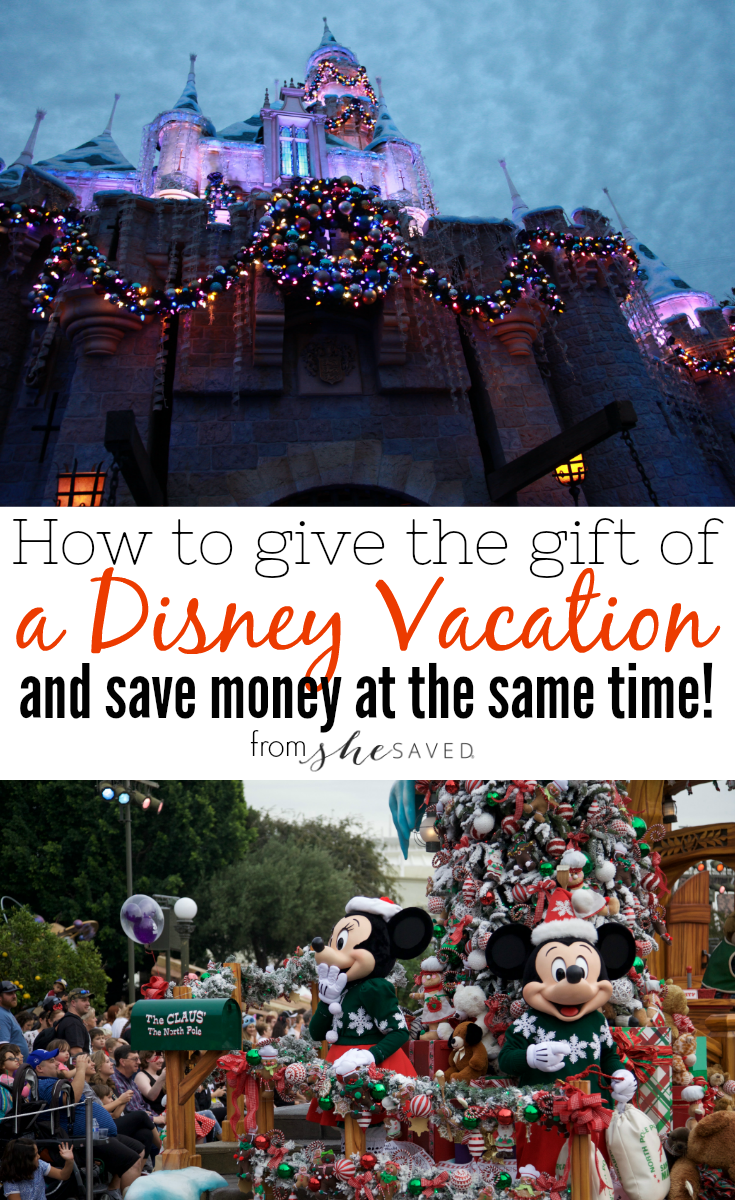 Looking to give the gift of a Disney trip? You CAN and you can save on a disney vacation as well, here's how!