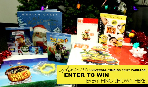 FLASH GIVEAWAY: Universal Studios Holiday Gift Basket Giveaway! (includes 3 Blu-rays!)