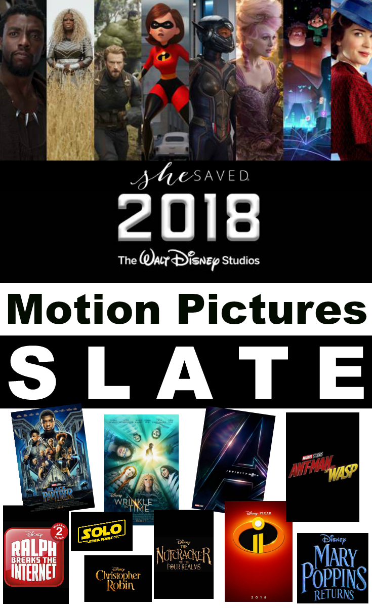 Mark YOUR Calendar!! The 2018 Walt Disney Studios Motion Pictures Slate is OUT and it's SO good!