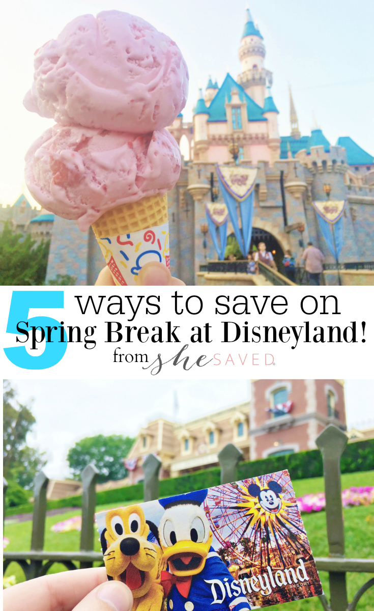Save this list of 5 Ways to Save on Spring Break at Disneyland!