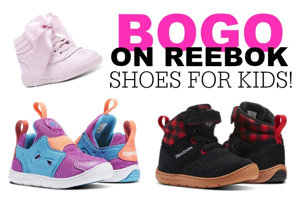 Now through Saturday January 6th Reebok is offering Buy One Pair of Kids  Shoes and Get a second pair FREE during the BOGO Kids Footwear sale! a4c0af322