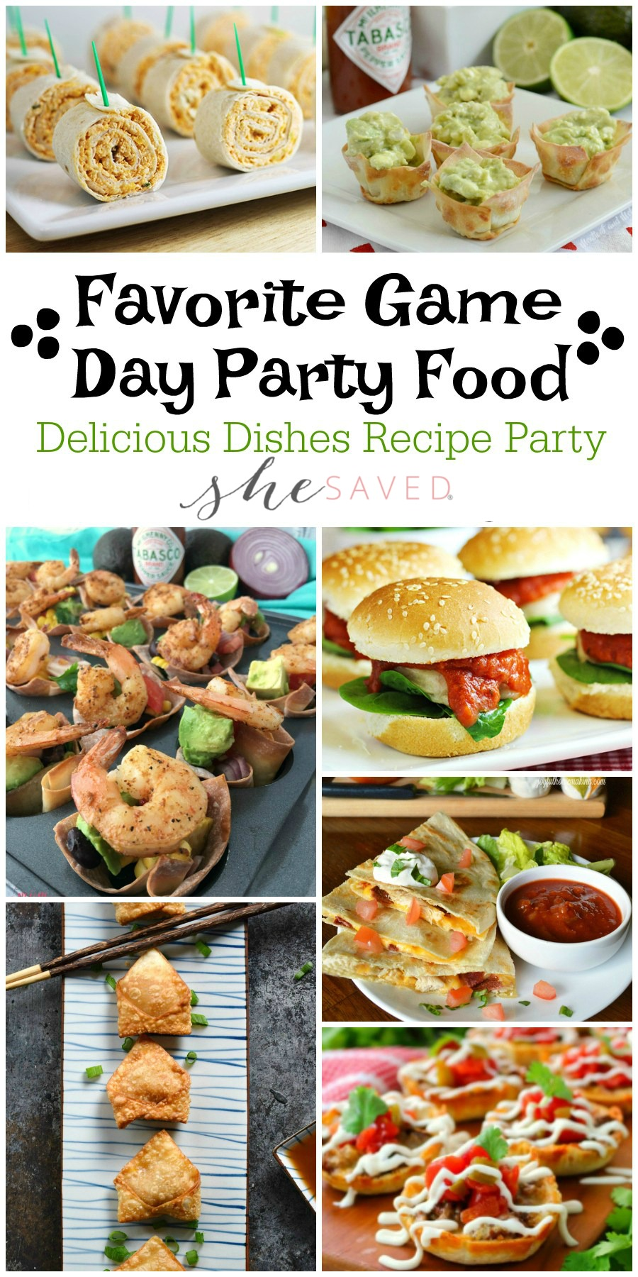 Everything you need for the football party with this round up of Favorite Game Day party food recipes!