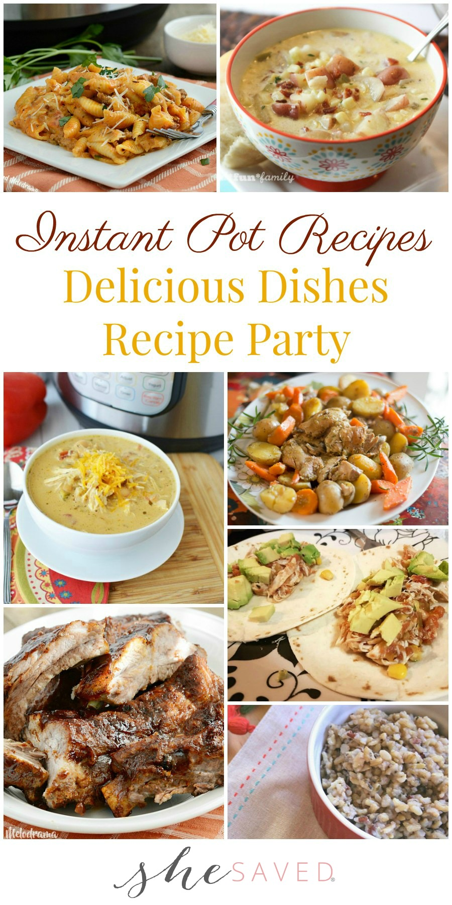 This selection of favorite Instant Pot Recipes will be a hit with your family!