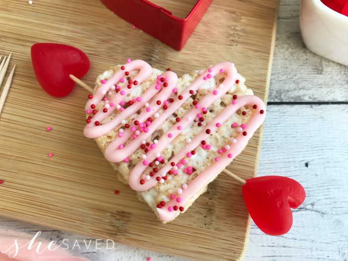 Sprinkle With Valentine Sprinkles. Repeat With All The Rice Krispie ...