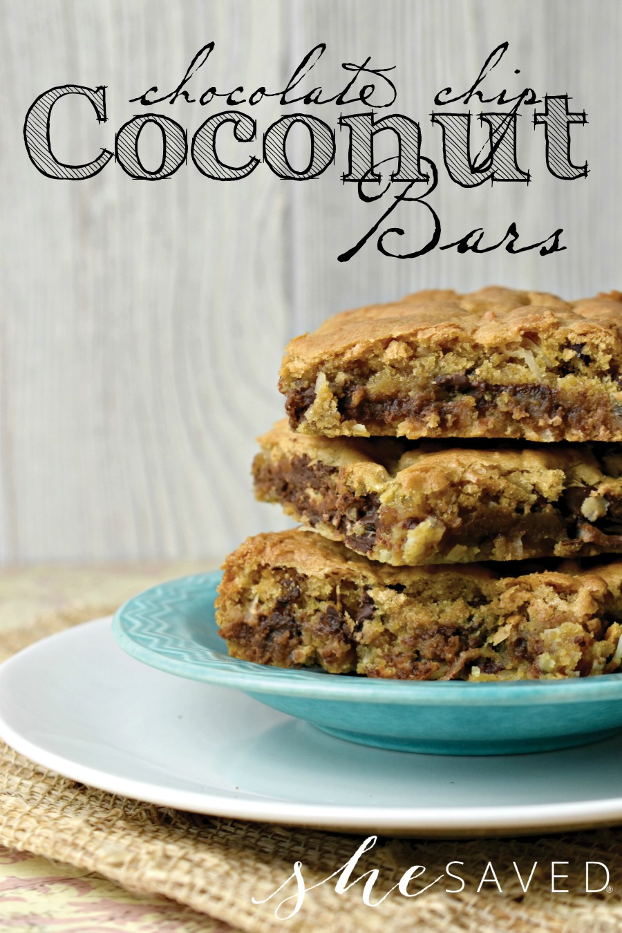 Easy and SO good these Chocolate Chip Coconut Bars are a must make dessert!