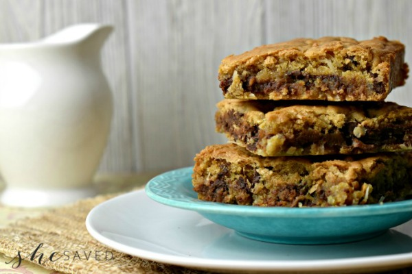 Chocolate Chip Coconut Bars Recipe
