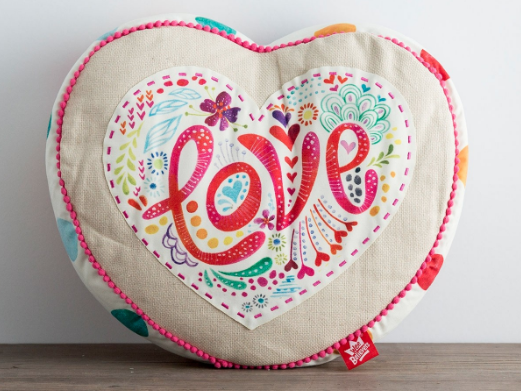 Heart Affirmation Reversible Pillow from DaySpring for $15!