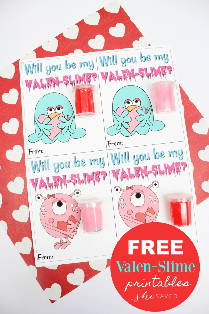 If your kids love slime then this fun and FREE Valentine Slime Printable will be a hit!