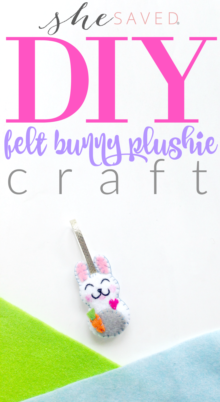 This fun DIY Felt Bunny Plushie is fun for crafters of all ages!
