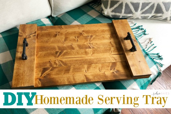 Easy Diy Farmhouse Serving Tray Project Shesaved 174