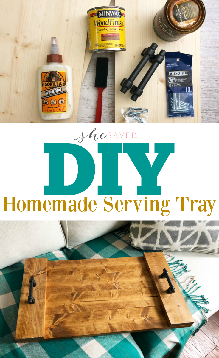 Such a great gift idea! This DIY Serving Tray is easy and so practical!