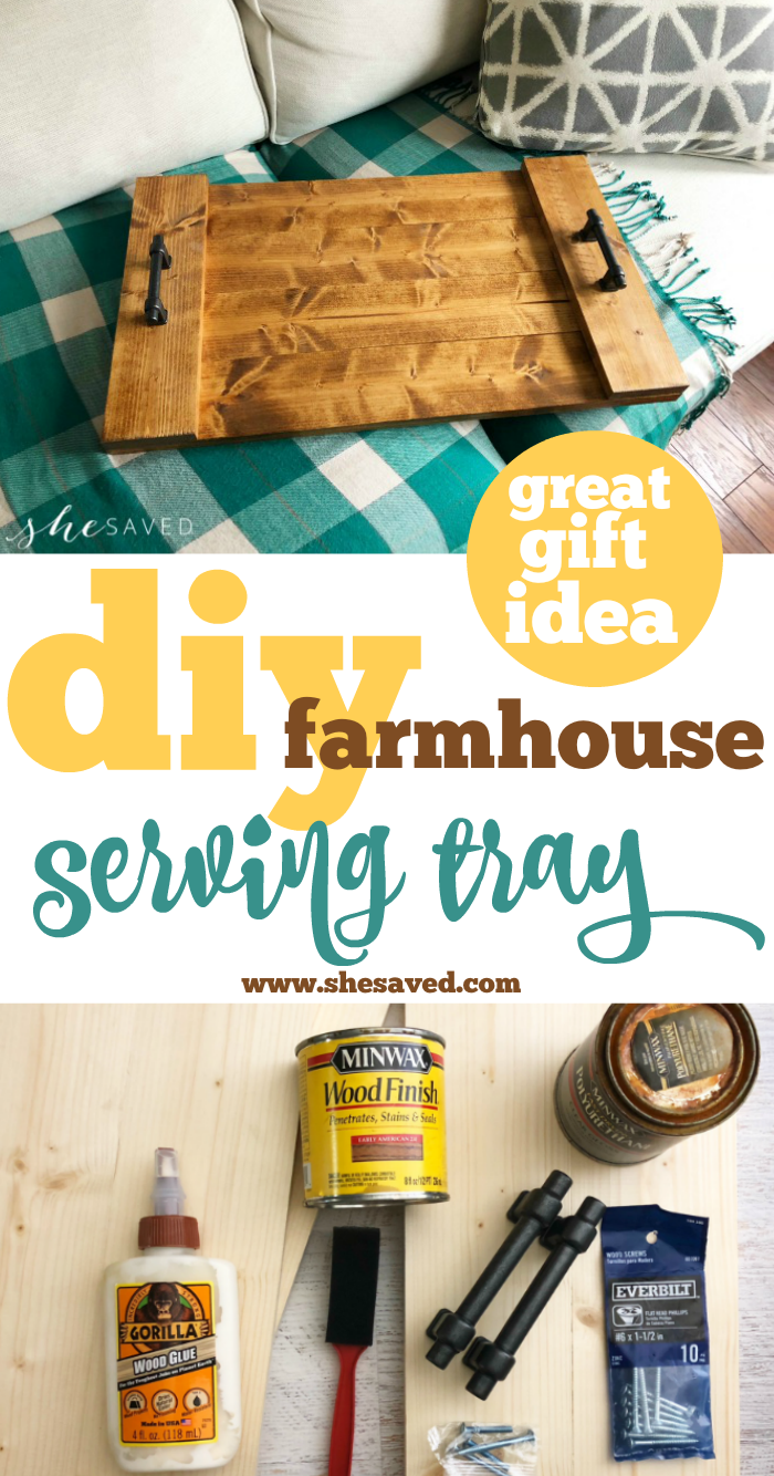 Great gift idea! This Farmhouse Tray is a perfect DIY gift!