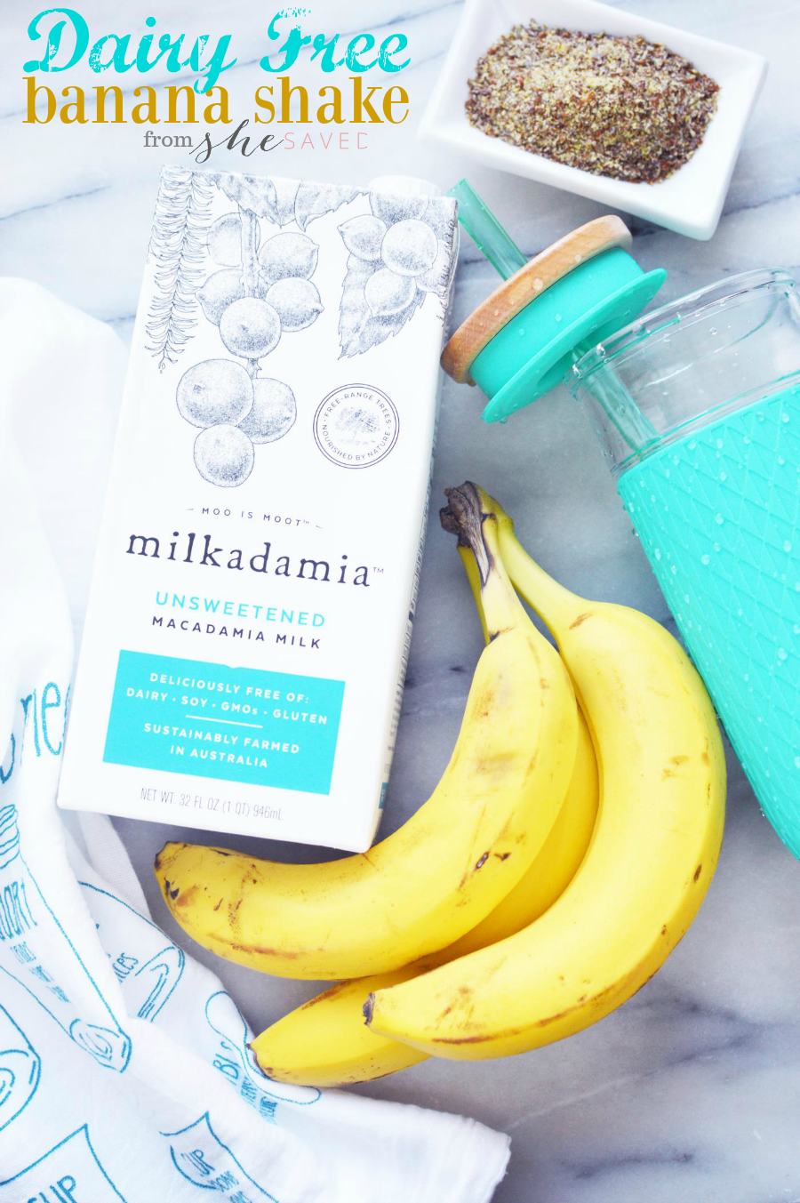 This Vegan and Dairy Free Banana Shake recipe is so easy and a great way to grab a healthy breakfast on the run!