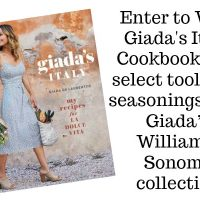 Giada De Laurentiis Cookbook Giveaway!