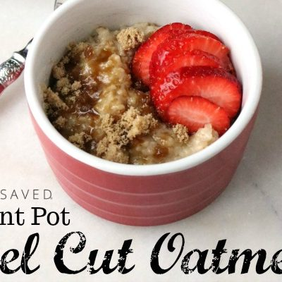 Make an easy and healthy breakfast with this Instant Pot Steel Cut Oatmeal Recipe!