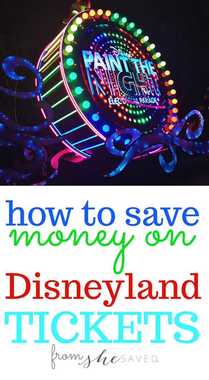 Legit ways to save money on Disneyland tickets!