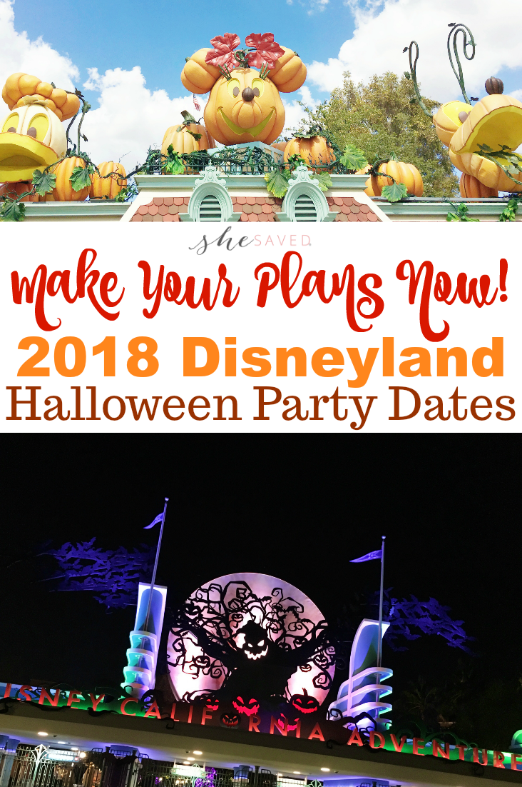 Save this list of 2018 Disneyland Halloween Party Dates so you can make plans to join in the celebration!