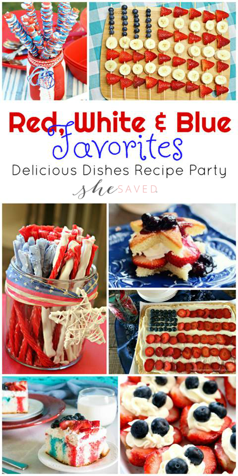 This round up of 4th of July recipes is all that you will need to make your red, white and blue party a huge success!