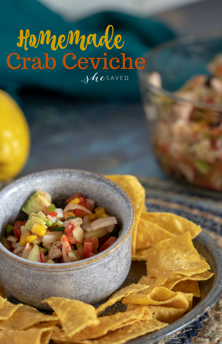 This Homemade Crab Ceviche recipe has no raw fish but all of the awesome flavor (without the risk!)