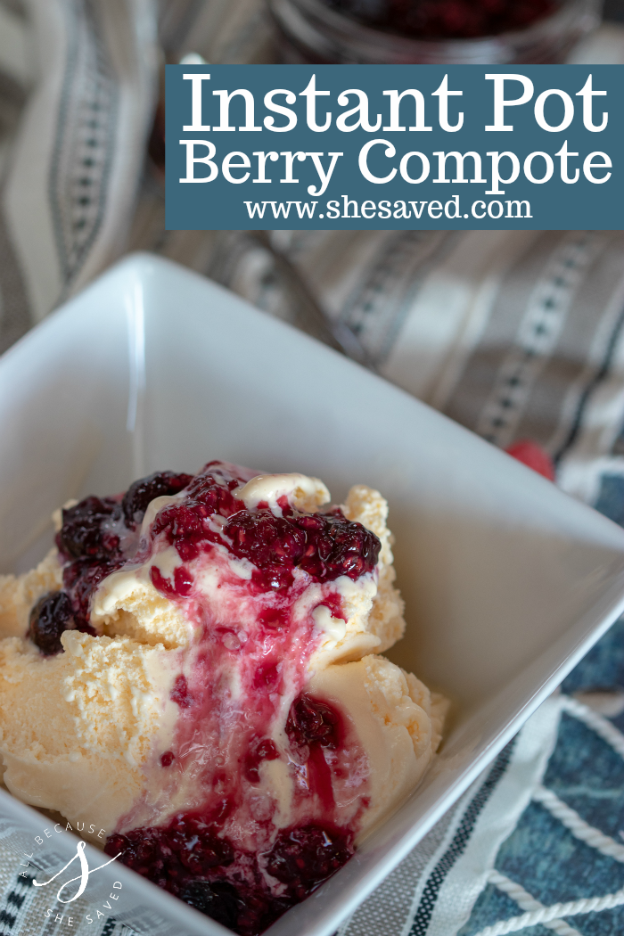 Perfect for summer this Instant Pot Berry Compote will be a new dessert topper favorite!