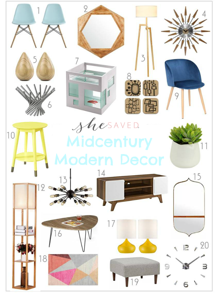 Home Decorating Midcentury Modern Decor Items , SheSaved®