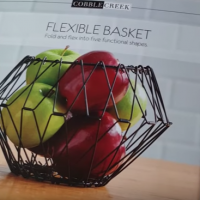 Flexible Basket: Countertop Folding Fruit Basket (5 Shapes in ONE!)