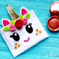 No Sew Unicorn Pouch Craft Felt Project