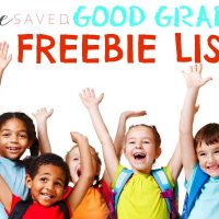 Report Card Rewards: Good Grade Freebies for 2018