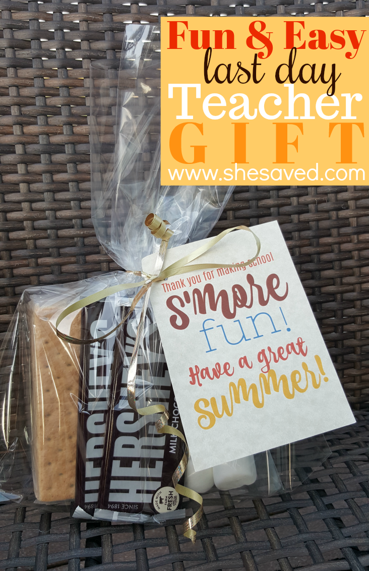 Easy and fun last day teacher gift! This S'more fun package will put a smile on any teacher's face!