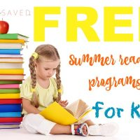 2018 FREE Summer Reading Programs for Kids