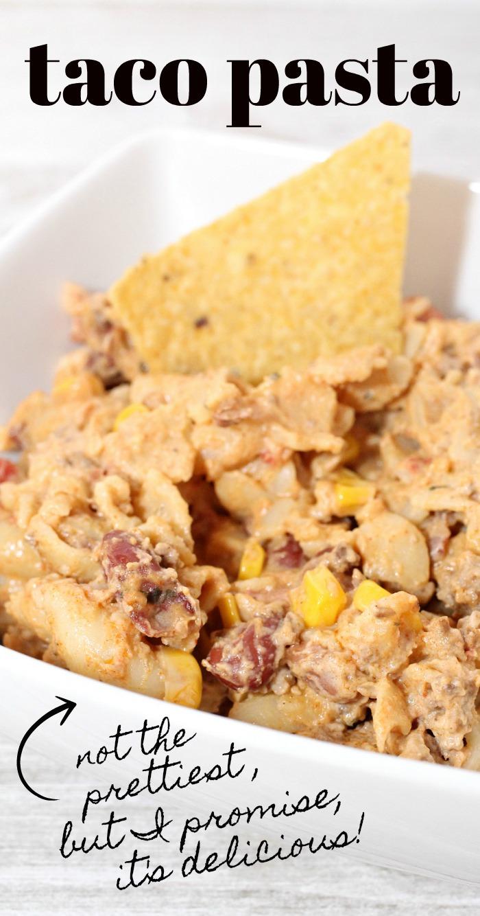 Easy Taco Pasta Recipe with Ground Beef