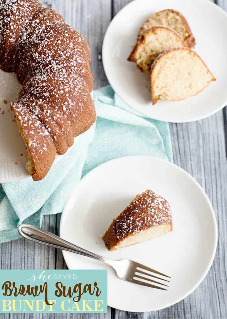 This Brown Sugar Bundt Cake Recipe has all of the bundt cake things you love with a sweet kick that makes it the perfect dessert!