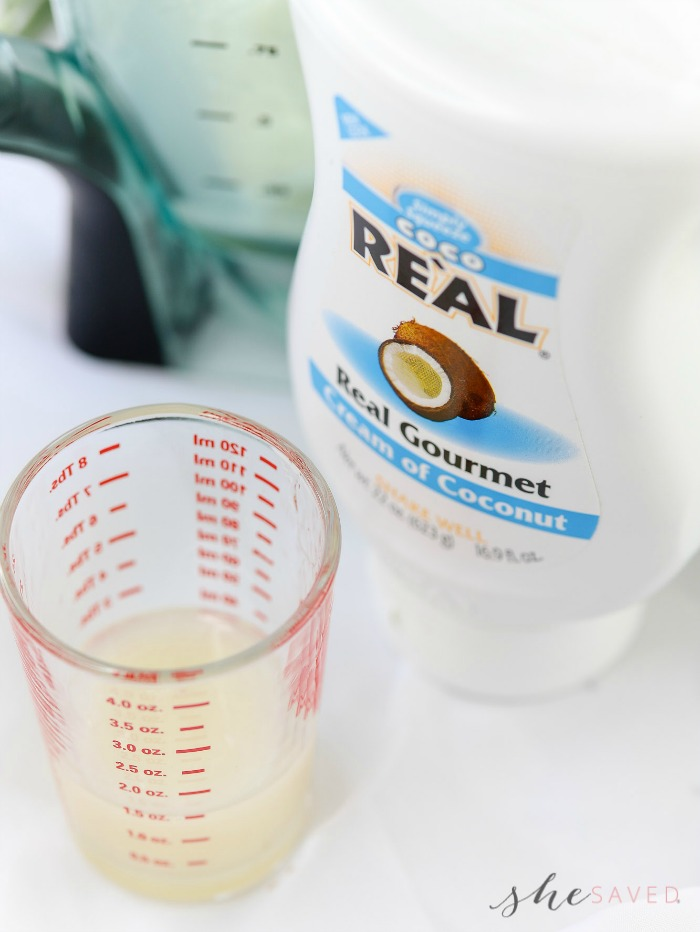 drink with real coconut