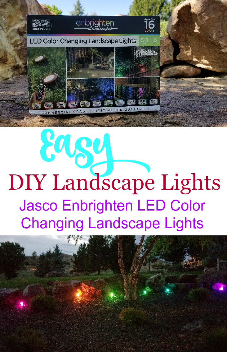 Light up your outdoor space with Jasco Enbrighten LED Color Changing Landscape Lights!