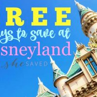 Free Ways to Save at Disneyland