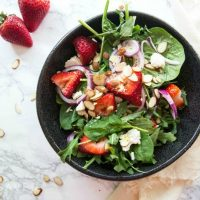 Strawberry Spinach Salad + Poppy Seed Dressing Recipe