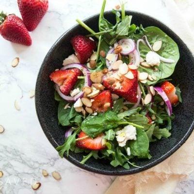 Strawberry Spinach Salad + Poppy Seed Dressing Recipe