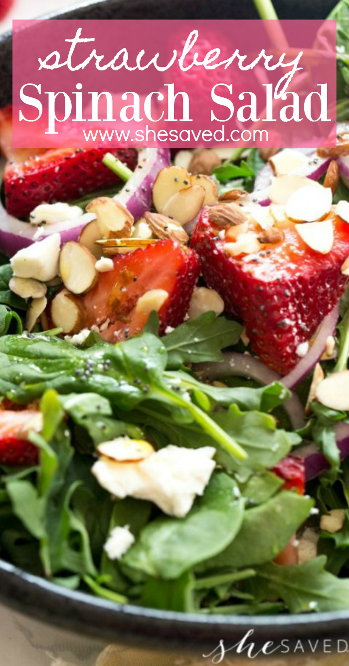 strawberry spinach salad recipe with poppyseed dressing